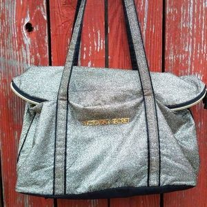 Gold Victoria's Secret tote bag